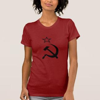 O t-shirt das mulheres soviéticas do dispositivo