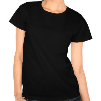 O t-shirt das mulheres torcidas da flor de lis