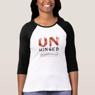 O t-shirt das mulheres Unhinged do Podcast Camiseta