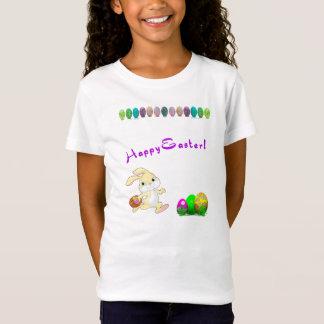 O t-shirt de menina de coelhinho da Páscoa Camiseta