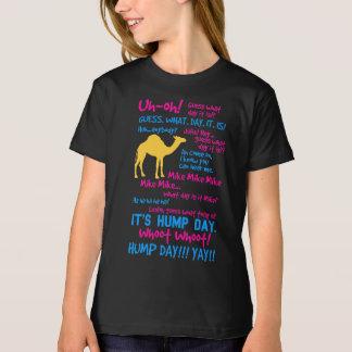 O t-shirt de meninas de dia da corcunda camiseta