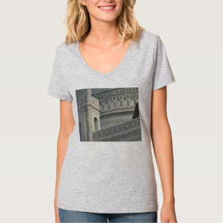 O t-shirt de Taj Mahal, embute a parte dianteira,