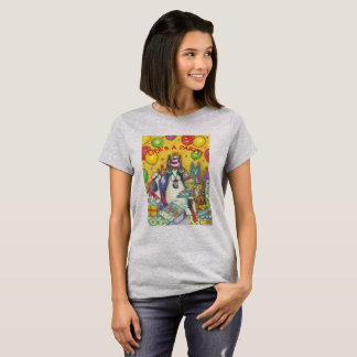 O T-SHIRT do BASIC do PARTIDO do CAT de N Fitz do Camiseta