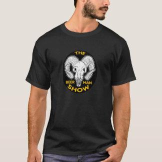 O t-shirt do crânio da cabra da MOSTRA do HOMEM da Camiseta