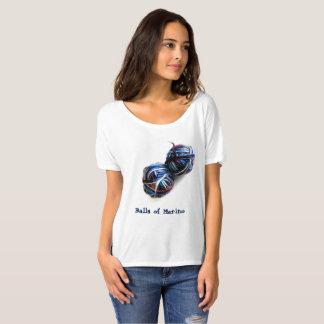 O t-shirt do Knitter com as bolas do fio Camiseta
