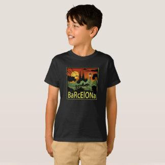 O t-shirt do menino de Barcelona Camiseta