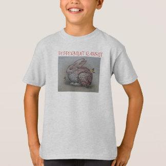 O t-shirt do miúdo com coelho & borboletas camiseta
