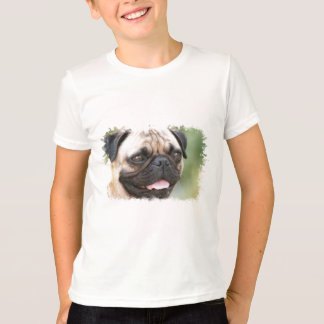 O t-shirt do miúdo do cão do Pug Camiseta