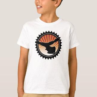O t-shirt do miúdo do moinho de vento de BBOY Camiseta