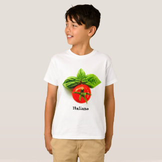 O t-shirt do miúdo italiano da herança camiseta