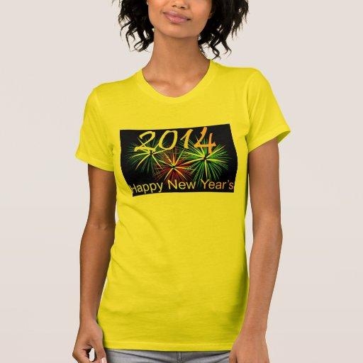 O t-shirt dos 2014 felizes anos novos