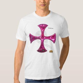 O t-shirt dos homens acorrentados da cruz do ferro