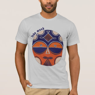 O t-shirt dos homens autênticos da máscara de Teke Camiseta