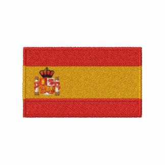 O t-shirt dos homens bordados bandeira da espanha