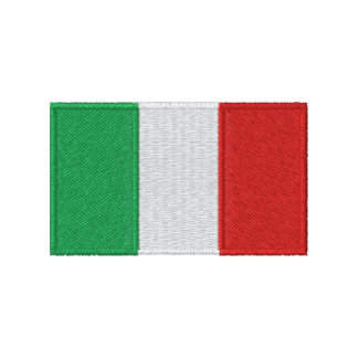 O t-shirt dos homens bordados bandeira de Italia