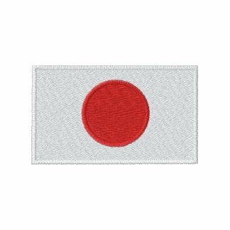 O t-shirt dos homens bordados bandeira de Japão