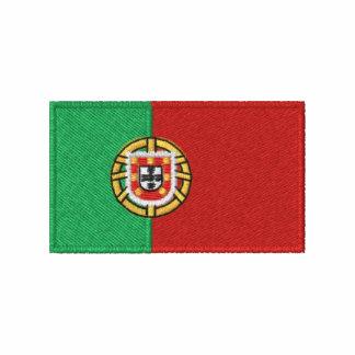 O t-shirt dos homens bordados bandeira de Portugal