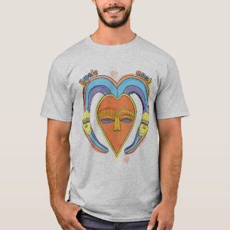 O t-shirt dos homens da máscara de Kwele do Camiseta
