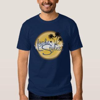 O t-shirt dos homens das palmeiras do logotipo de