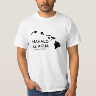 O t-shirt dos homens de Mahalo KE Akua