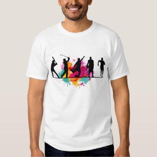 O t-shirt dos homens do desportista