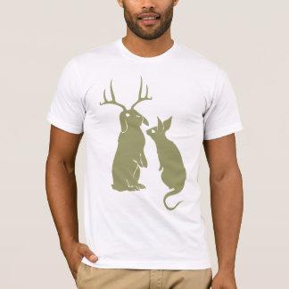 O t-shirt dos homens engraçados dos coelhos camiseta