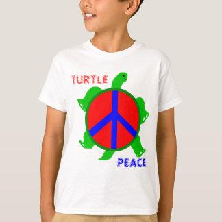 O t-shirt dos miúdos da paz da tartaruga camiseta