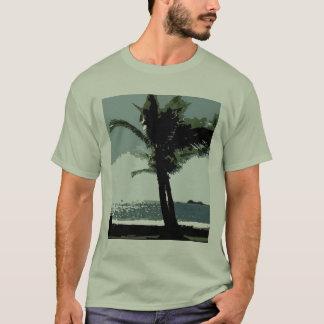 O t-shirt elegante dos homens da palma camiseta