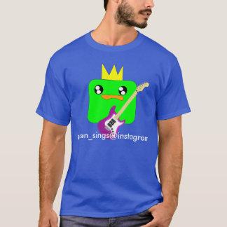 O t-shirt escuro básico dos seus homens feitos sob camiseta