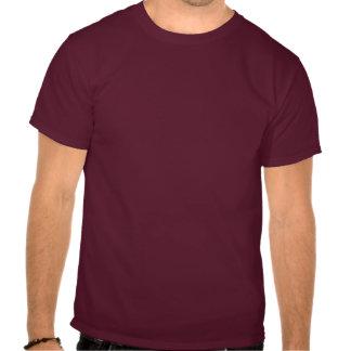 O t-shirt escuro dos homens de advertência do AMAN
