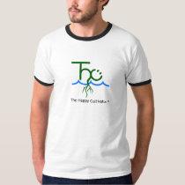 O t-shirt feliz da campainha do logotipo de