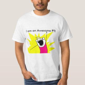 O t-shirt impressionante da pinta