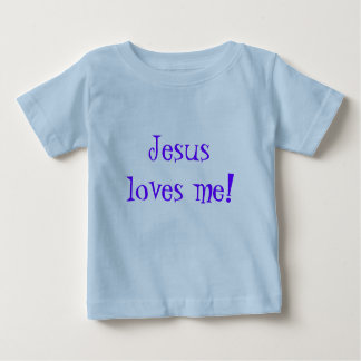 O t-shirt/Jesus de Enfants ama-me! Camiseta Para Bebê