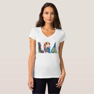 O t-shirt   NEW YORK das mulheres, NY (LGA) Camiseta