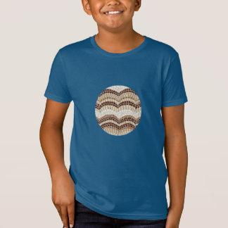 O t-shirt orgânico dos miúdos bege do mosaico camiseta