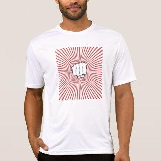 O t-shirt retro dos homens da colisão do punho camiseta