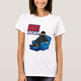 O t-shirt vertical das mulheres do Podcast de Camiseta