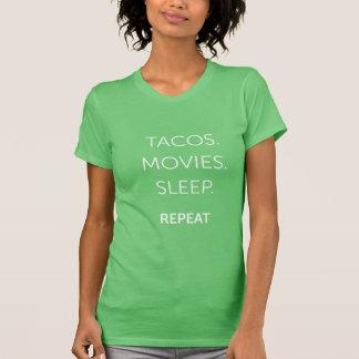 O Tacos das mulheres, filmes, camisa do sono T-shirts