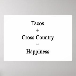 O Tacos mais o país transversal iguala a Poster