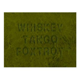 O tango do uísque Foxtrot cartão