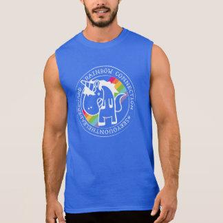 O tanque da conexão do arco-íris do músculo camisas sem manga