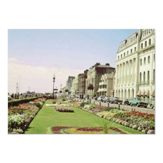O tapete cor-de-rosa jardina no passeio em convite personalizado
