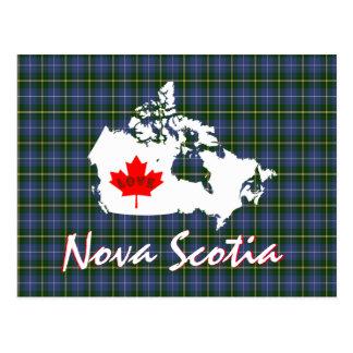 O tartan de Nova Escócia personaliza o cartão de