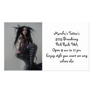O tatuagem de Marsha Modelo Cartoes De Visitas