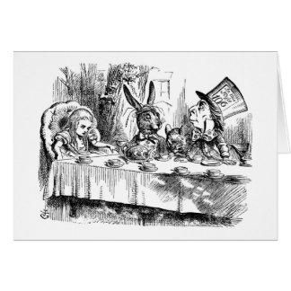 O tea party do Hatter louco Cartão Comemorativo