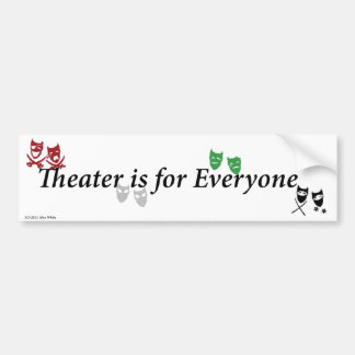 O teatro é para o autocolante no vidro traseiro de adesivo para carro