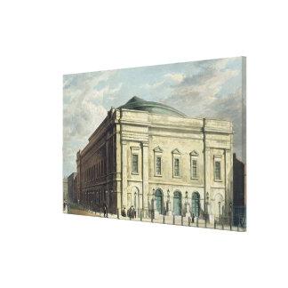 O teatro real, pista de Drury, em Londres, projeto Impressão Em Canvas