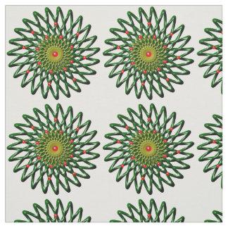 O tecido de algodão penteado flor do rubi