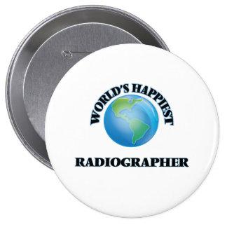 O técnico de radiologia o mais feliz do mundo bóton redondo 10.16cm