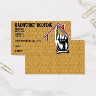 O telhado Shingles o cartão de visita